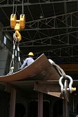 image of shipbuilding  - Shipbuilding area creates a significant potential for employment is one of the branches of heavy industry - JPG