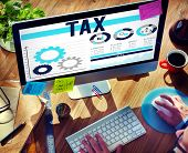 foto of financial audit  - Tax Taxation Legal Audit Financial Economy Concept - JPG