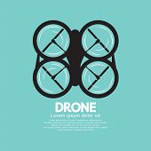 image of drone  - Top View Of Drone Black Symbol Vector Illustration - JPG