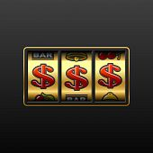 picture of slot-machine  - Vector illustration of a dollar jackpot  - JPG