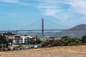 picture of masonic  - View of the Golden Gate Bridge from Fort Mason - JPG