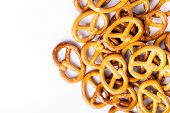 image of pretzels  - food pretzel bread salty salt tasty brown snack - JPG