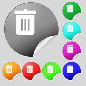 stock photo of reuse recycle  - Recycle bin Reuse or reduce icon sign - JPG