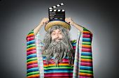 picture of hairy  - Funny hairy mexican with movie clapper - JPG