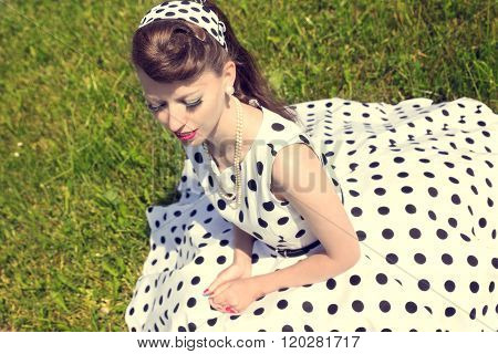 Woman With A Petticoat Dress