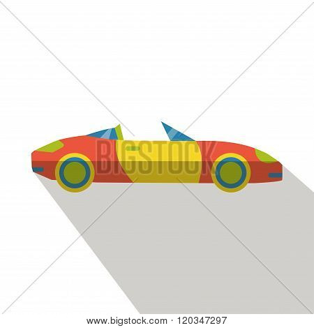poster of Car icon vector flat isolated cartoon logo