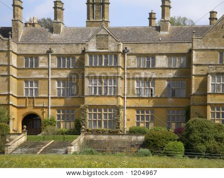 Picture or Photo of Medieval elizabethan stately home with rooms and windows