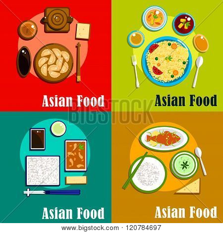 Indian chinese thai and korean cuisine poster id 120784697 for Asian cuisine indian and thai food page