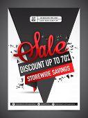Sale Banner, Sale Poster, Sale Flyer, Sale Vector. 70% Off, Sale Background. Big Sale, Super Sale, S poster