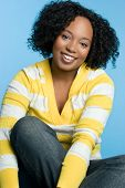 image of african american woman  - Smiling African American Girl - JPG