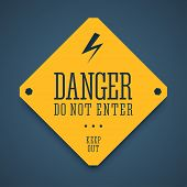 Постер, плакат: Danger sign do not enter