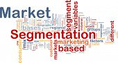 stock photo of homogeneous  - Background concept wordcloud illustration of business market segmentation - JPG