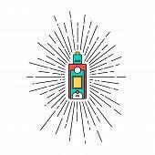 Sunray Burst Electric Cigarette Personal Vaporizer poster