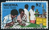 NIGERIA-CIRCA 1970:A stamp printed in NIGERIA shows image of Technical Education of Nigeria, circa 1