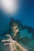 Постер, плакат: Вид с воздуха на Закинф остров Греция камео остров Laganas
