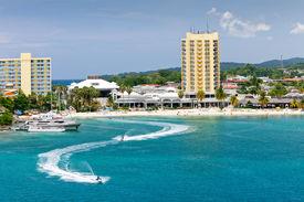foto of waverunner  - Beach and Tourism Area of Ocho Rios Jamaica - JPG