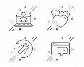Recovery Tool, Best Manager And Heart Line Icons Set. Seo Message Sign. Backup Info, Best Developer, poster
