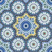 Arabic Tile Pattern. Design Of A Tile Based On Islamic Traditional Art. All Elements Sorted And Grou poster