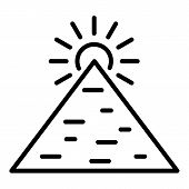Great Pyramid Icon. Outline Great Pyramid Vector Icon For Web Design Isolated On White Background poster