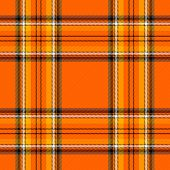 Halloween Tartan Plaid. Scottish Pattern In Orange, Black And Yellow Cage. Scottish Cage. Traditiona poster