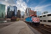 picture of willy  - Metra train arriving from Chicago downtown district - JPG
