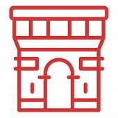 Paris Arch Icon. Outline Paris Arch Vector Icon For Web Design Isolated On White Background poster
