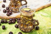 Turkish Tea In Traditional Glass poster