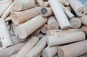 Round Firewood. Sawn Tree. Tree Background. Wood Texture, Harvesting Firewood For Winter. Solid Fuel poster