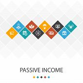 Passive Income Trendy Ui Template Infographics Concept. Affiliate Marketing, Dividend Income, Online poster