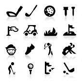 image of golf bag  - Golf Icons set icons set  - JPG