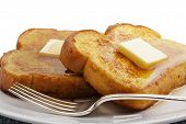 foto of french-toast  - French toast with square piece of butter - JPG