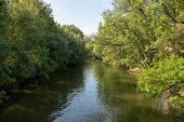 Picture From The River Elster In The Near From Karl Heine Canal.this Is A Beautiful Way Watersports  poster