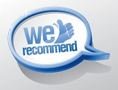 picture of recommendation  - We recommend shiny speech bubble - JPG