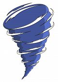 stock photo of hurricane clips  - cartoon tornado isolated on the white background - JPG