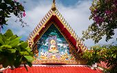 image of sanctification  - Ornament of the top of a Buddhist temple - JPG
