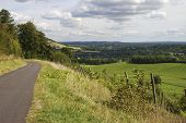 stock photo of dork  - Path on North Downs near Dorking in Surrey - JPG
