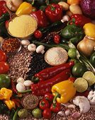 Raw Mexican Food Ingredients