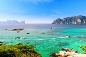 stock photo of koh phi-phi  - boats - JPG