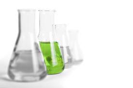 stock photo of beaker  - Laboratory glassware equipment - JPG