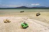 stock photo of dauphin  - Fishing boats and net in southern Madagascar - JPG