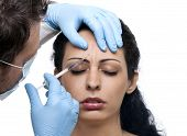 picture of collagen  - Treatment with hyaluronic collagen HA injection - JPG