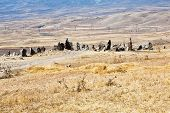 pic of megaliths  - view of Zorats Karer  - JPG