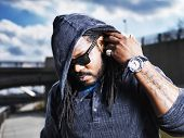 pic of dreads  - urban man showing dreads - JPG