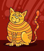 Постер, плакат: Желтый Кот улыбается