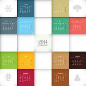 picture of calendar 2014  - Vector 2014 calendar template - JPG