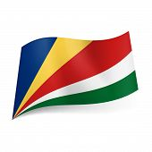 foto of oblique  - National flag of Seychelles - JPG