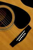pic of polly  - The bridge and strings of an acoustic guitar - JPG