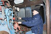The Machinist Operates A Steam Locomotive