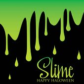 foto of snot  - Dripping slime Halloween card in vector format - JPG