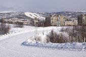 stock photo of murmansk  - Winter view of Murmansk city - JPG